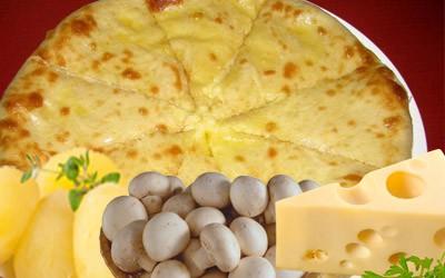 Пирог: Картошка, сыр и грибы