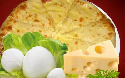 Пирог: Сыр и моцарелло